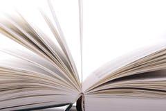 Open boek sideview Stock Foto