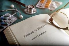 Open Boek van de Ziekte van Parkinson ` s royalty-vrije stock foto