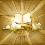 Open boek vectorachtergrond Stock Fotografie