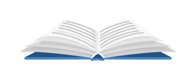 Open boek voor Minnaar van literatuur Encyclopedie?n voor lezing Omgekeerde pagina's Voorwerp in eigentijdse stijl Vector royalty-vrije illustratie