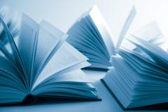 Open boeken royalty-vrije stock fotografie