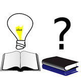 open boekidee gesloten boekonwetendheid en gebrek aan onderwijs Stock Afbeeldingen