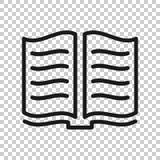 Open boekpictogram in transparante stijl Literatuur vectorillustratie op ge?soleerde achtergrond Bibliotheek bedrijfsconcept vector illustratie