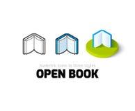 Open boekpictogram in verschillende stijl Royalty-vrije Stock Foto's