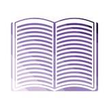 Open boekpictogram stock illustratie