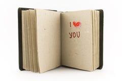 Open bokar - jag älskar dig royaltyfri fotografi