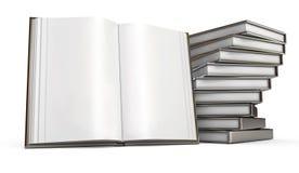 Open bokar. Vitbakgrund vektor illustrationer