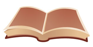 Open book. Isolate on a white background Royalty Free Stock Photography