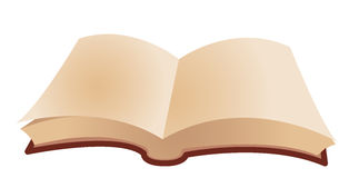 Open book. Isolate on a white background Royalty Free Stock Photos
