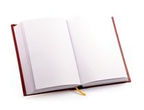 Open book. Blank open book on white background with clipping path