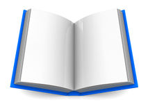 Open book. 3d illustration of opened book over white background Stock Photos