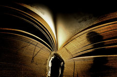 Open Book. Dramatically lit old dream book Stock Images