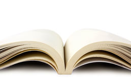 Open book. A white background Royalty Free Stock Photography