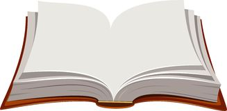 Open Book. Vector image of open book over white. EPS 8 Stock Photos