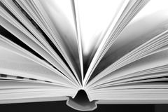 Open book. Just an open book with spread pages Stock Image
