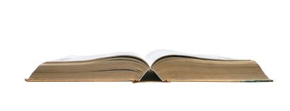 Open book. Old open book on a white background Stock Photo