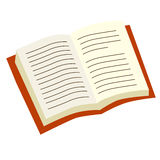 Open book. Illustration of open book on white background Royalty Free Stock Photography