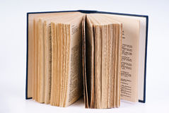 Open book. Isolated on white Stock Images