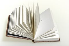 Open book. The open book and white background Stock Images