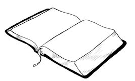 Open Book. A drawing of an open book Royalty Free Stock Photos
