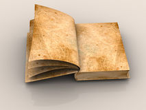 Open book. 3d isolated object stock photos