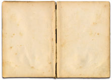 Open book. Open old book with free space left to set own text Stock Photo
