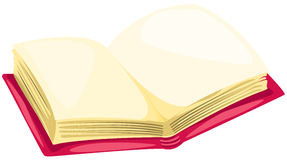 Open book. Illustration of isolated open book on white background Royalty Free Stock Photo