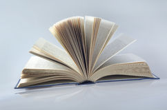 Open book. Large book stack Stock Image