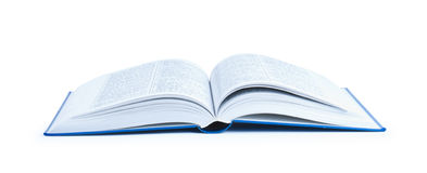 Open Book. In the white Royalty Free Stock Photography