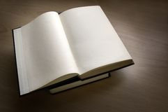 Open Book. A blank paged opened book Stock Photography