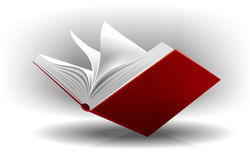 Open book. Illustration of an open book to browse through the pages Stock Image