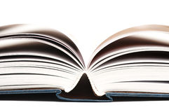 An open book. Close-up of the blue book Royalty Free Stock Photos