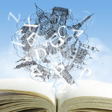 Open book Royalty Free Stock Images