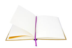 Open book. Empty open book on a white background Royalty Free Stock Photo