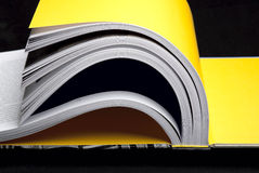 Open book. Close up of large open book stock photography