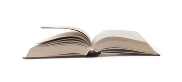 Open Book. On white background Royalty Free Stock Photography