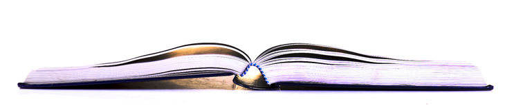 Open book. Over white background Stock Photography