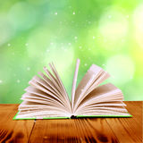 Open book. Open magic book of nature Royalty Free Stock Photo