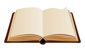 Open book. Vector illustration. Royalty Free Stock Photography