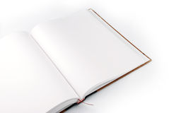 Open book. Blank open book on white background