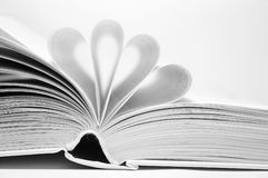 Open book. Black and white open book Stock Photo