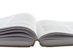Open book. Against white background royalty free stock images