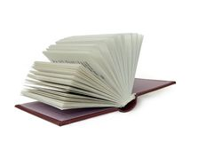 Open book. On white background Royalty Free Stock Photo