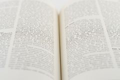 Open book. Against white background Royalty Free Stock Photo