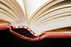 Open book. Book opens on a black Royalty Free Stock Photo