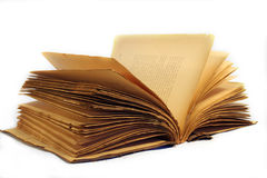 Open book. Old used book opened royalty free stock photography
