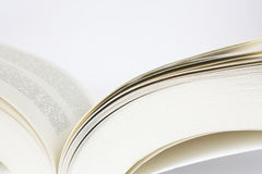 Open book. The open book in soft binding with the text without pictures. The classical book Stock Images