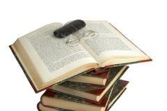 Open book. Some dictionaries stock photos