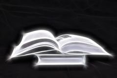 Open book. Illustration of white open book Royalty Free Stock Photos