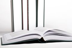 Open book. On the shelf Royalty Free Stock Images